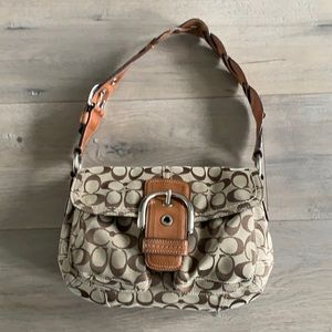 Coach Soho Signature Buckle Brown Leather Bag